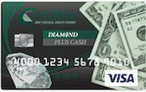 central one federal credit union diamond plus cash credit card