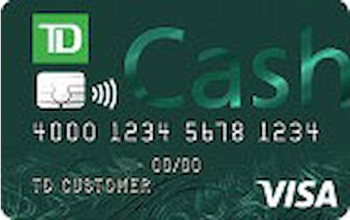 td bank cash credit card