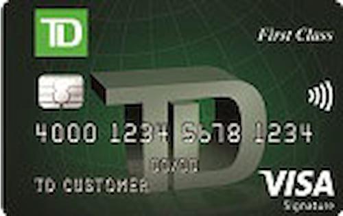 td first class visa credit card