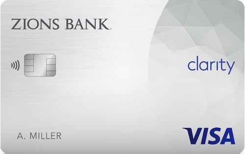 zions bank clarity credit card