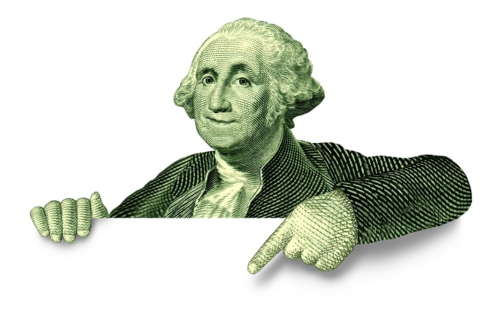George Washington Pointing