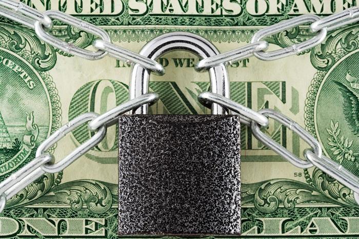 Money padlock safe