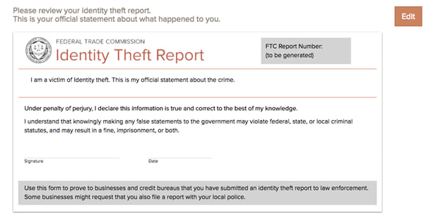 Identity Theft Report What It Is How To Complete It
