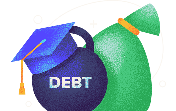 cities with the most least student debt