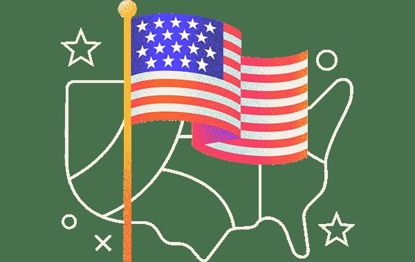 most patriotic states in america