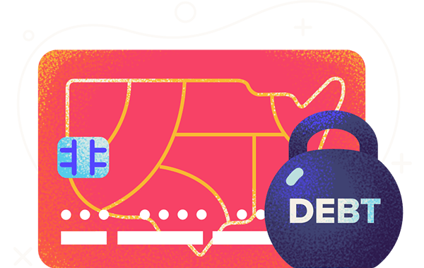 states with the highest lowest credit card debts