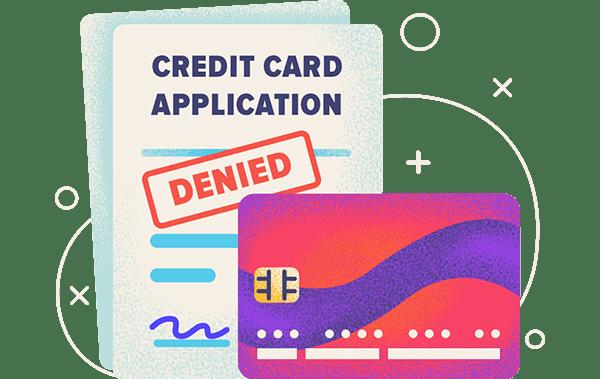 credit card application denied hero